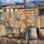 """Cubist Stable Yard"" by Largelyart"