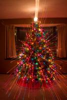 Colorful Christmas Tree Light spikes Abstract