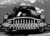1950 Buick Eight B&W