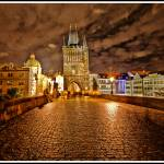 """Charles Bridge at Night - Prague, Czech Republic"" by madeline"