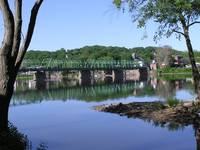 Lambertville...bridge very blue