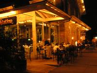 River Towns & ...Lambertville Station cafe @ night