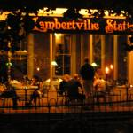 """River Towns & ...Lambertville Station cafe @ night"" by ascherandchelsey"