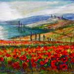 """Poppy Fields of Tuscany"" by yvonneayoub"
