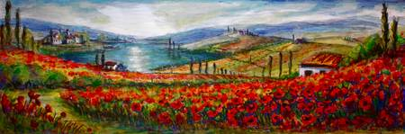 Poppy Fields of Tuscany