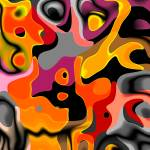 """ZIZZAGO Art Abstract Multi Color World 1A"" by shanmaree"