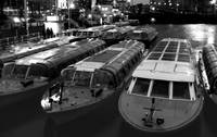 Idle Tour Boats -- Amsterdam in November BW