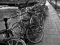 Bike Parking -- Amsterdam in November (BW)