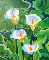 Four Calla Lillies