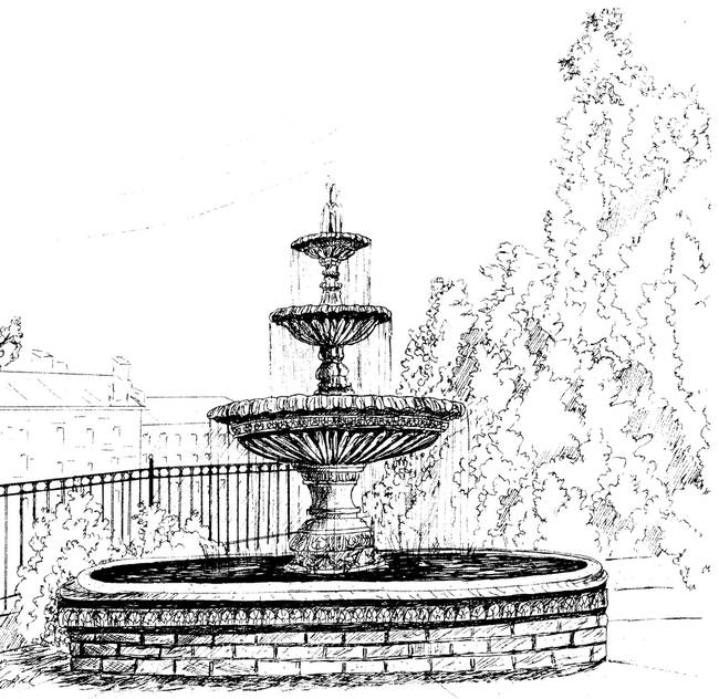 stunning  u0026quot fountains u0026quot  drawings and illustrations for sale