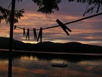 Clothesline and Sunset