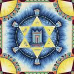 """""""Magen David with 12 Tribes"""" by Nachshonart"""