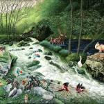 """0253_Woodland river copy"" by Nachshonart"