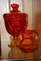 Red and Amber Glass