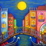"""Moonlit Venice"" by LisaLorenz"