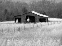 Coppermines Barn in Black & White