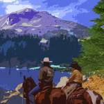 """lassen-lake"" by ranchartist"