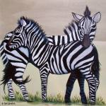 """zebras- nate and nigel"" by traciebrownart"