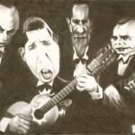 """Carlos Gardel & musicians"" by davidpugliese"