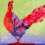 """Rooster VI"" by LeslieSaetaFineArt"