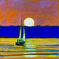 Sailboat With Moonlight 2
