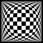 """Warped checkerboard pattern #2"" by bobb"