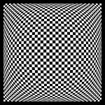 """Warped checkerboard pattern #1"" by bobb"