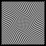 """Warped checkerboard pattern #3"" by bobb"