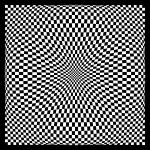 """Warped checkerboard pattern #4"" by bobb"