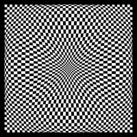 Warped checkerboard pattern #4