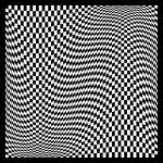"""Warped checkerboard pattern #5"" by bobb"