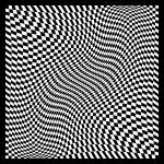 """Warped checkerboard pattern #6"" by bobb"