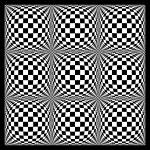 """Warped checkerboard pattern #7"" by bobb"
