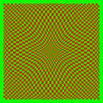 """Warped checkerboard pattern #8"" by bobb"