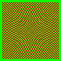 Warped checkerboard pattern #8