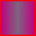 """Warped checkerboard pattern #10"" by bobb"
