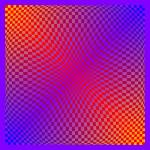 """Warped checkerboard pattern #11"" by bobb"