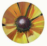 Sunflower on Vinyl Record