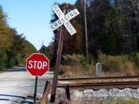 CSX crossing sign