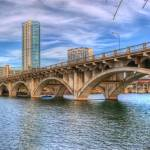 """Austin Bridge Across The Colorado River"" by johnfrench"