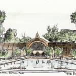 """Botanical Building drawing by Riccoboni"" by RDRiccoboni"