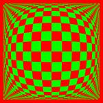 """Warped checkerboard pattern #12"" by bobb"
