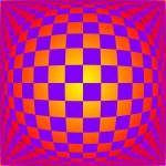 """Warped checkerboard pattern #13"" by bobb"
