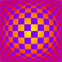 Warped checkerboard pattern #13
