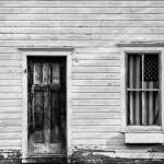 """Old House with American Flag"" by keithdotson"