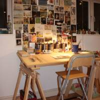 My art studio in London Art Prints & Posters by Yvonne Ayoub