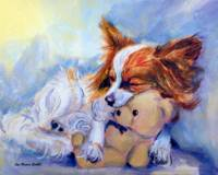 Papillon Dog, Teddy Hugs