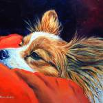 """Papillon Dog, Sleepy Head"" by wally_doodle"
