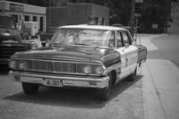 Old Police Car Photography/Black & White Decorative