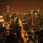 """Chicago at Night Series"" by patgleasonphotography"
